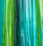Multi green stripe batik