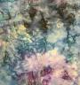 Navy blue purple denim allover pattern batik