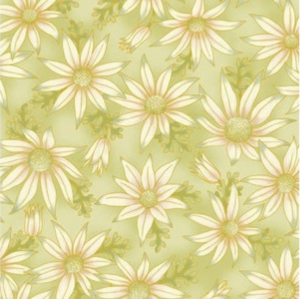 Green flannel flowers 15 10