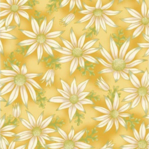 Flannel flowers on gold 15 17