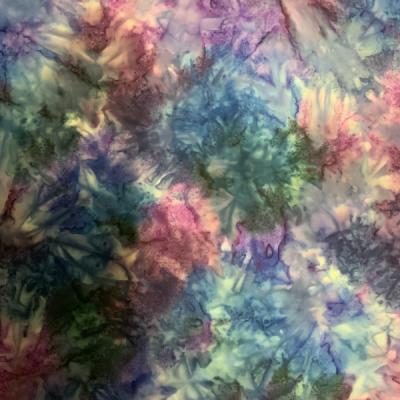 Navy blue and purple allover pattern batik