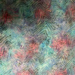 Blue pink zig zag pattern batik