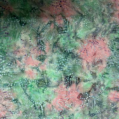 Mint and pink dot pattern batik