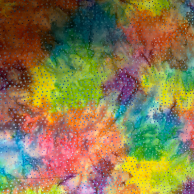 Multicolour with dot pattern batik