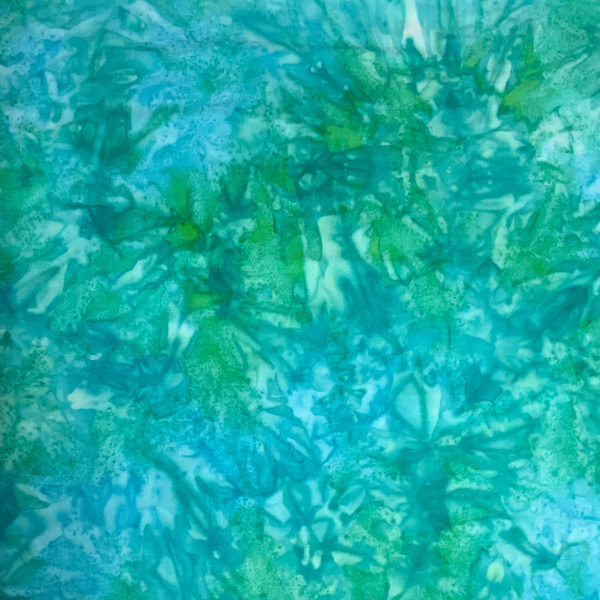 Aqua and apple pastel batik