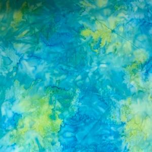 Blue and citrus pastel batik