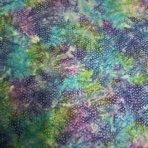 Purple blue green flower burst pattern batik