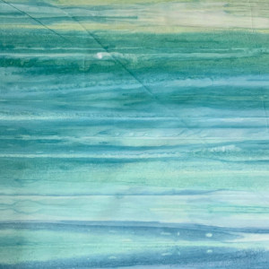 Blue and soft jade pastel batik
