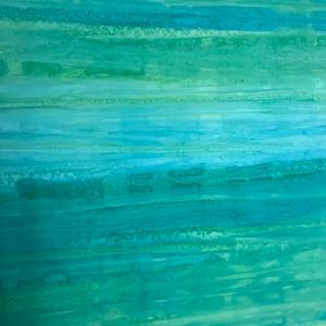 Light jade pastel strip batik