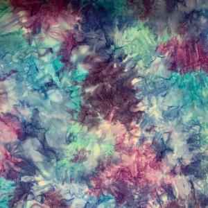 Multicolour blue pattern batik