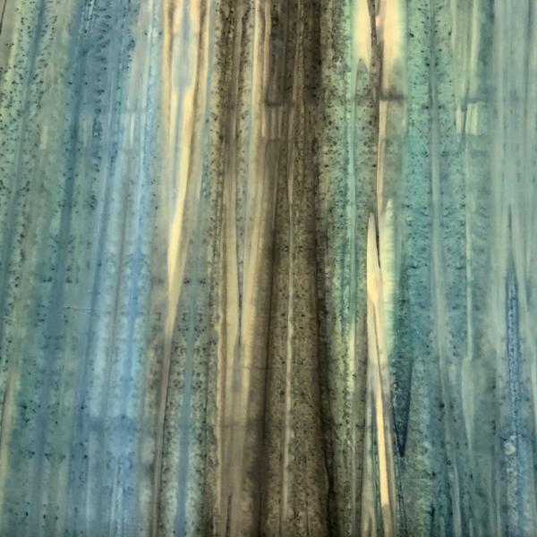 Blue brown landscape pattern batik