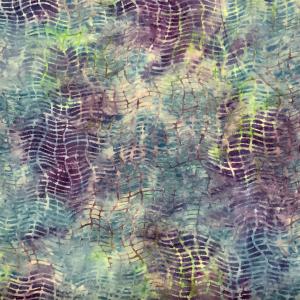 Blue web pattern batik