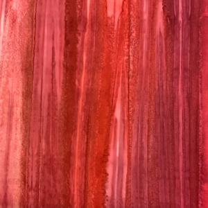Red teal stripe batik