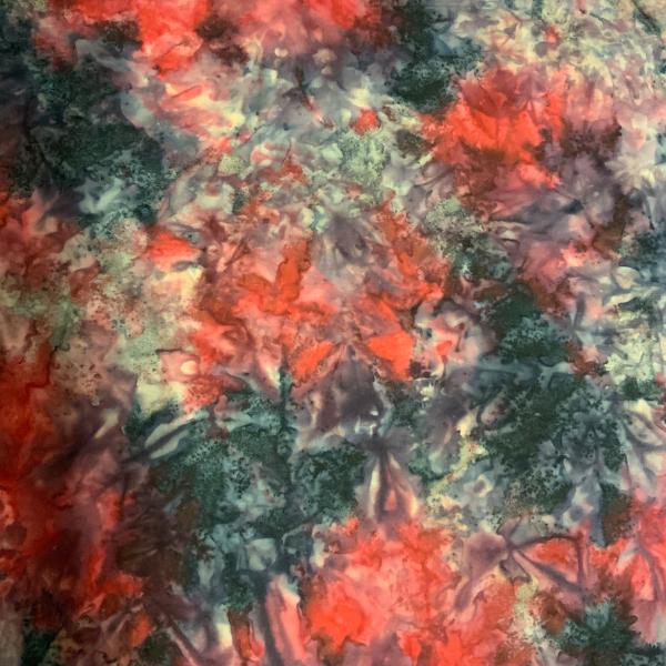 Red Navy Blue allover pattern batik