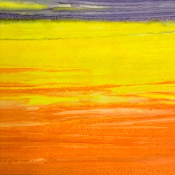 Orange yellow purple stripe batik