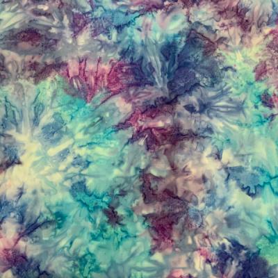 Blue aqua purple allover pattern batik