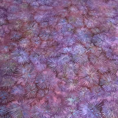 Tonal purple fireworks star burst batik