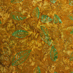 Primo Batik Rust Olive Leaves R07 0644 0129