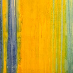 Blue and yellow batik