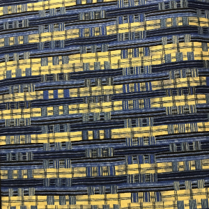 Blue Yellow Striped Grid