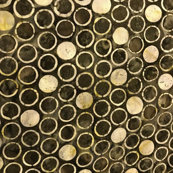 Dark Brown with Cream Circles
