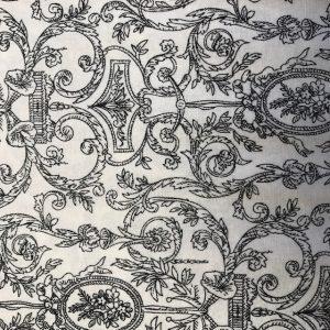 Paintbrush Studio Damask Black on White