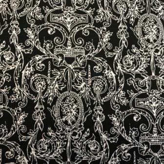 Paintbrush Studio Damask White on Black
