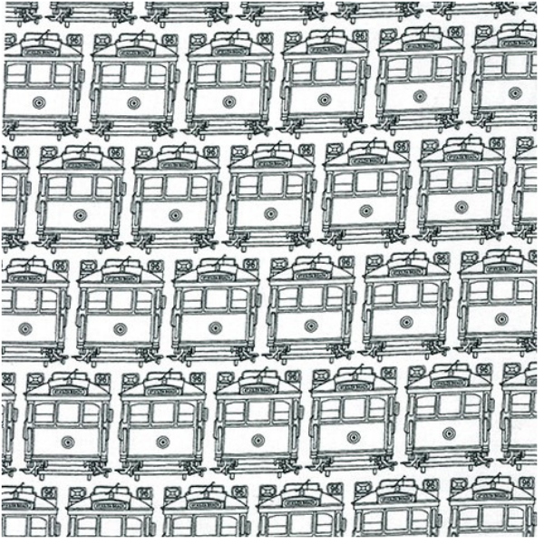 Emma Jean Jansen Classics Tram Pattern White