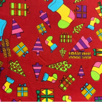 Novelty Christmas Red By Hill-Berg Fabrics